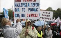 Nauczycielski protest przeciwko reformie...