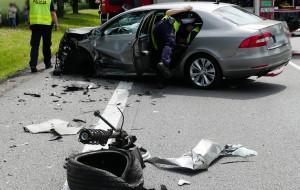 Prezes ZKM rozbił służbowe auto