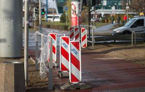 Gdańsk: ustawiają podpórki dla rowerzystów