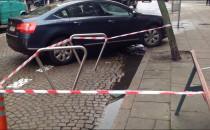 Stojaki na ulicy, żeby rowerzyści zjechali...