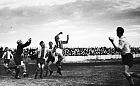 Pierwszy mecz piłkarski w zdobytym Gdańsku