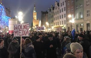 Studencki protest na Długim Targu