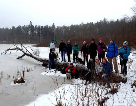 Jezioro Otomińskie i okoliczne mokradła zimą