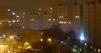 Nocny pożar mieszkania na Zaspie
