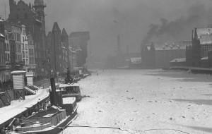 Sroga zima długo trzymała 90 lat temu