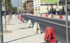 Słupki zastąpią zapory na Armii Krajowej w Gdyni