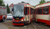 Czołowe zderzenie tramwajów we Wrzeszczu. Osiem osób rannych