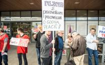 Protest pracowników Tesco w Gdyni