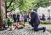 Prezydent Andrzej Duda złożył kwiaty pod pomnikiem w Gdańsku