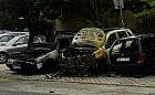 Nocny pożar trzech aut na Chełmie