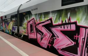 Grafficiarze zniszczyli w nocy pociąg PKM