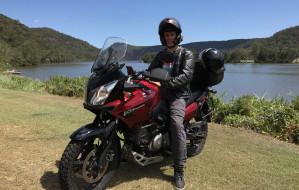 Przyjechał z Australii do Polski na motocyklu