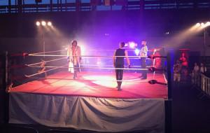 Niesamowity klimat na gali wrestlingu w Gdyni