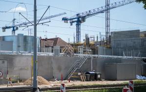 Robotnik spadł z rusztowania na budowie Forum Gdańsk