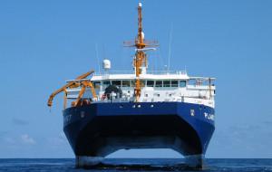 Nietypowy okręt Bundesmarine w Gdyni
