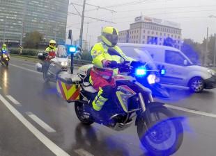 Ratownicy na motocyklach przyjechali do Trójmiasta