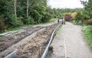 Trwa remont trasy rowerowej łączącej Orłowo z Sopotem