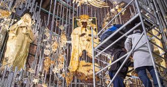 Bursztynowy ołtarz w bazylice św. Brygidy: odsłonięcie w sobotę