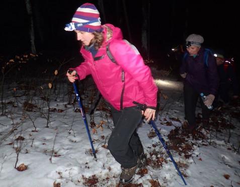Śniegołazy przeszły nocą 50 km
