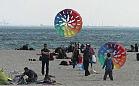 Puszczali latawce na plaży w Gdyni