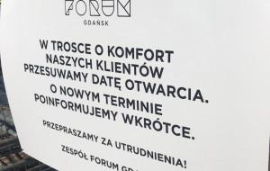 Pierwsi klienci Forum Gdańsk odeszli z kwitkiem
