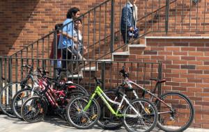 Udogodnienia rowerowe pod Forum Gdańsk