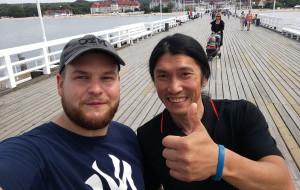 Rowerowy podróżnik z Tajwanu z wizytą w Trójmieście