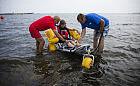 Kąpielowy wózek dla niepełnosprawnych na plaży w Sopocie