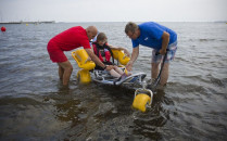 Kąpielowy wózek dla niepełnosprawnych na...