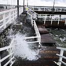 Wichura uszkodziła molo w Brzeźnie i Sopocie