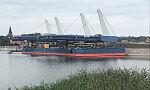 Przęsła mostu w Sobieszewie przypłynęły na plac budowy
