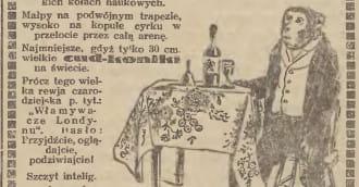 'Największy niemiecki cyrk małp i psów'. Jarmark św. Dominika w 1928 r.
