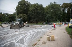 Rozpoczęły się prace przy budowie nowego ronda na Siedlcach