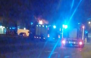 Poranny pożar busa na Przymorzu