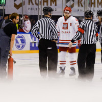 Dziura w lodzie. Przerwany mecz hokeistów Polska - Dania
