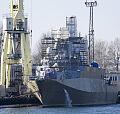 ORP Ślązak na pierwszych próbach morskich