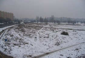 Zaniedbany park na Zaspie