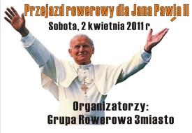 Przejazd rowerowy dla Jana Pawła II