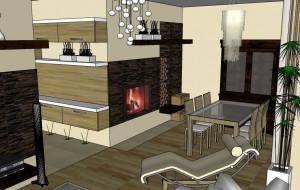 Kuchnia i salon w domu Agaty i Marcina
