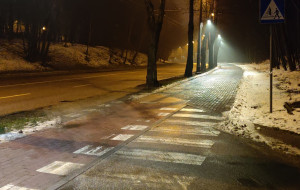 Więcej światła dla pieszych i rowerzystów
