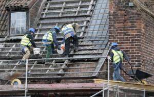 Ruszył remont dachu Wielkiego Młyna