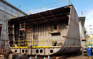 Statki Urzędu Morskiego  w kawałkach. Trwa łączenie sekcji