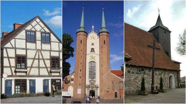 The oldest buildings of Gdynia, Sopot and Gdansk