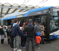 Zwiedziliśmy zajezdnię trolejbusową w Gdyni
