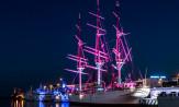 Dar Pomorza: nowa iluminacja od wieczora