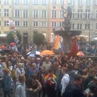 Manifestacja młodych na Długim Targu
