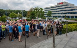 Protest pracowników Lotosu