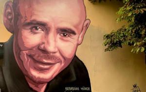 Mural we Wrzeszczu z aktorem Teatru Muzycznego