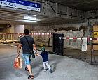 Nieestetycznie wyglądający remont tunelu przy dworcu w Gdańsku
