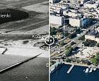 Gdynia na zdjęciach archiwalnych i współczesnych z drona
